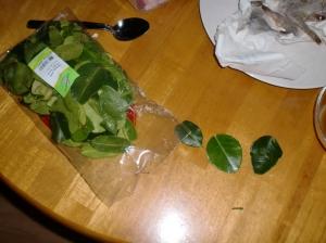 En stor pose limeblader. Behøvde jo bare tre ...